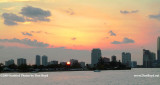 2009 - sunset over the Rusty Pelican restaurant and high rise buildings along Bayshore and Brickell Avenue (#1668)