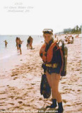 1978 - Jona Mulvey from Miami Beach preparing for her first open water dive