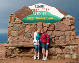 2009 - Donna and Karen on top of Pike's Peak, Colorado