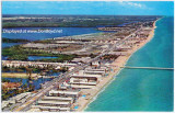 1950's - aerial view looking north at Sunny Isles with the famous fishing pier