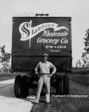 Late 1930's - Kenneth Zink with his Standard Whole Grocery Company truck on Tamiami Trail enroute to Tampa