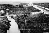 1913 - the Miami River south fork and north fork with the newly dug Miami Canal (upper right)