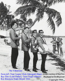 1964 - Miami area band The Vibrations posing for publicity photo at the Key Biscayne Hotel (comments below)