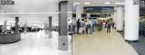 2009 - center terminal lobby (right) compared to original terminal lobby (left)
