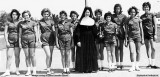 1961 - Sister John Kevin and the St. Mary's Parochial School's Volley Ball Team  (names below)