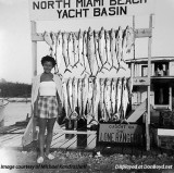 1953 - Michael Kandrashoff's mom Stella after a great day of fishing onboard the Lone Ranger II out of North Miami Beach