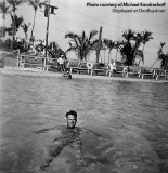 1955 - Walter Kandrashoff swimming in the old Smith's Casino pool on South Beach (comments below)