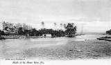 1904 - the mouth of the Miami River with Henry Flagler's Royal Palm Hotel on the north bank