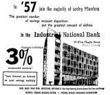 1957 - ad for Industrial National Bank of Miami on Flagler Street, Miami