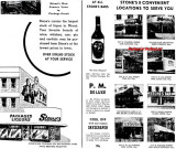 1948 - closeup of an ad for Stone's liquor stores and bars