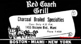 1953 - ad for the Red Coach Grill at 1455 Biscayne Boulevard, Miami