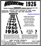1956 - ad for Jones Shutter Products hurricane shutters