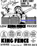 1954 - ad for King Fence of Miami