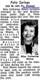 1957 - Miss Catherine Moore, first principal of Palm Springs Junior High School in Hialeah
