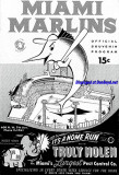 1956 - Miami Marlins souvenir program