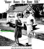 1962 - Frances Wodzinski, bride-to-be, with Home Milk delivery man Dick Davis