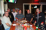 Brian Casity, Dale Jackson, Jim Garbee, Joel Harris, Bobby Debarge, Matt Coleman and John Padgett at Chili's in Smyrna