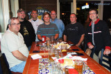 Brian Casity, Dale Jackson, Jim Garbee, Bobby Debarge, Joel Harris, Matt Coleman and John Padgett at Chili's in Smyrna