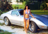 1976 - Kathey Z. with my Corvette