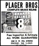 Early 1960's - Plager Brothers advertisement with their NEwton phone number