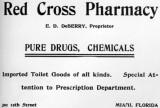 1900s - Red Cross Pharmacy advertisement