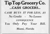 1910s - Tip Top Grocery Co. advertisement