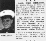 Early 1950s - Johnny Cheleotis USMC