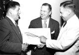 1951 - National Airlines President George T. Baker, American's VP-Sales R. S. Deichler and Delta's President C. E. Woolman