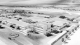 Early 1950's - Architectural drawing of National Airlines General Office building complex at Miami