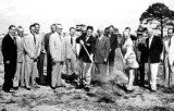 1953 - Ground breaking ceremony for a new National Airlines maintenance and overhaul facility at Miami International Airport