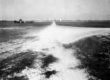1935 - Roadwork at Miami Municipal Airport in NW Dade County, Florida