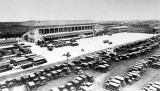 1927 - Grandstand and parking lot of the Hialeah Greyhound Dog Race Track