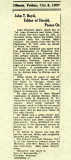 1937 - obituary for my grandfather John Theodore Boyd 1871 - 1937