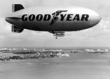 Late 1960s - the Goodyear Blimp GZ-19 Mayflower N1A over Biscayne Bay