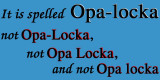 It is spelled Opa-locka, not Opa-Locka, not Opa Locka and not Opa locka