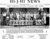 1938 - HI - J - HI News - Hialeah Junior High's newspaper with graduating class on the cover