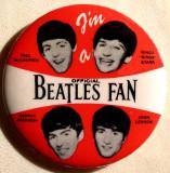 Beatles fan button
