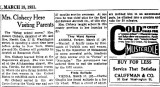 1931 - article about Helen Cox Clocecy moving from her flight school at All-American Airport in Dade County
