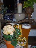 WINDOWSILL AT RESTAURANT TABLE