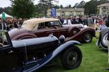 Front: 1933 Alfa Romeo 8C 2300 Castagna Cabriolet; rear: 1939 Mercedes-Benz 770K Cabriolet B