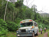 The bus we took to the caves