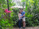 In front of our little jungle house. Sigh.