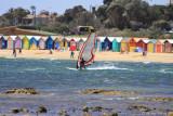 Surfer at Brighton Beach