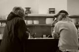 Two Gentlemen at Sam's Cafe