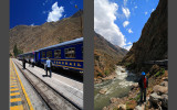 Train from Ollantaytambo to Aguas Calientes