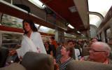 Fashion show in train back to Ollantaytambo