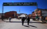 Entering Bolivia in Desaguadero