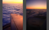 Entering clouds over Austria