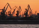 Gdynia port cranes