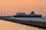 Ferry entering Gdynia port